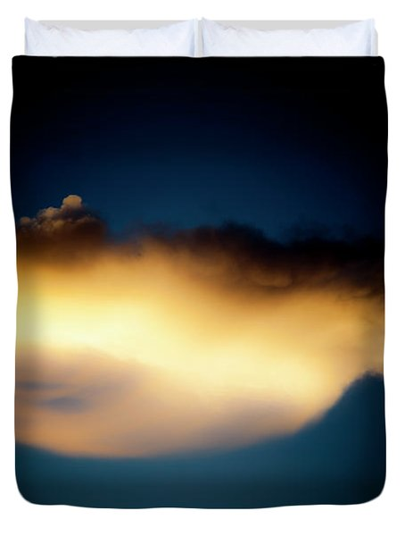 Duvet Cover featuring the photograph Mysterious Glow by Eric Christopher Jackson