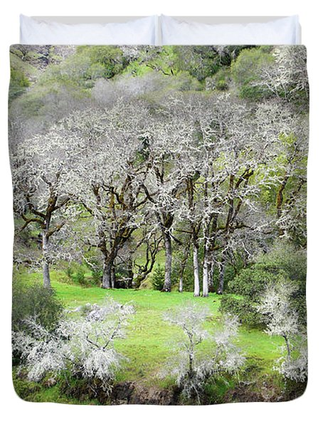 Mysterious Landscape In Sonoma County Duvet Cover