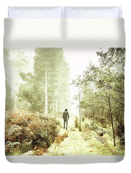Mysterious Trail Duvet Cover