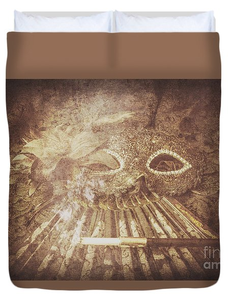 Mysterious Vintage Masquerade Duvet Cover