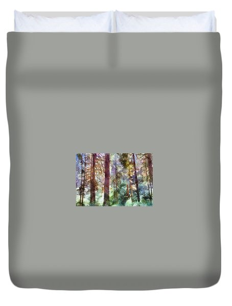 Mysterious Wood Duvet Cover