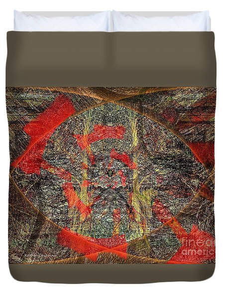 Duvet Cover featuring the photograph Mysterious Woods by Kathie Chicoine