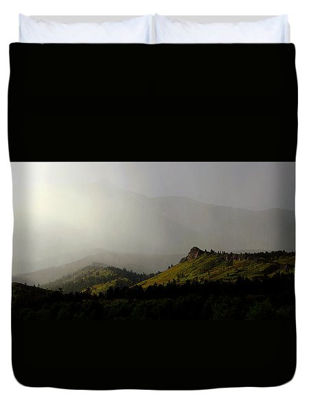 Duvet Cover featuring the photograph Mysteriously by Silke Brubaker