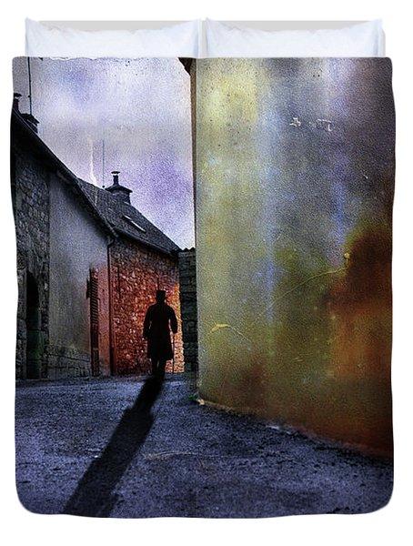 Mystery Corner Duvet Cover by Jim  Hatch