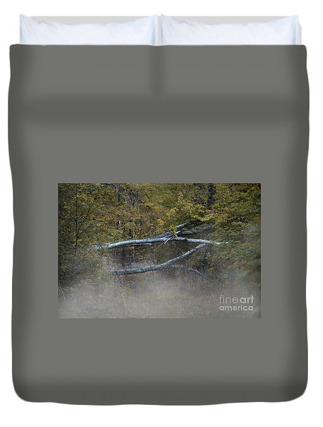 Duvet Cover featuring the photograph Mystery In The Fall by Skip Willits