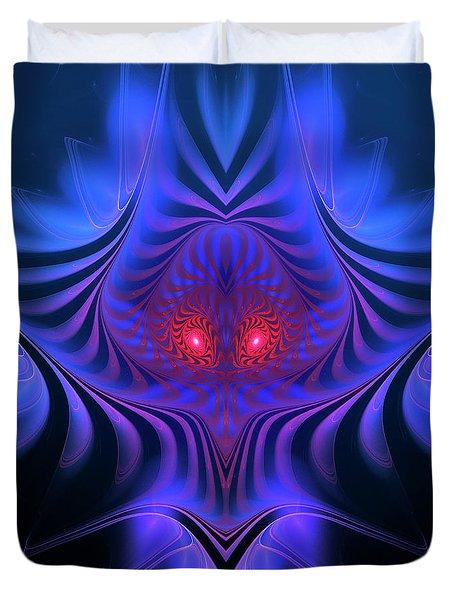 Duvet Cover featuring the digital art Mystery by Jutta Maria Pusl