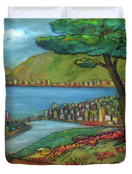 Mystery Painting From 1961 Duvet Cover