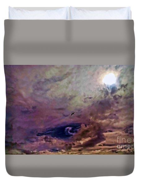 Duvet Cover featuring the photograph Mystery by Roberta Byram
