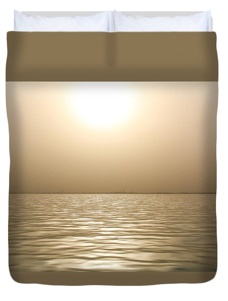 Mystery Sandstorm Sunset- The Red Sea Duvet Cover