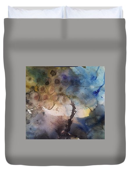 Mystery Tree Duvet Cover by Becky Chappell