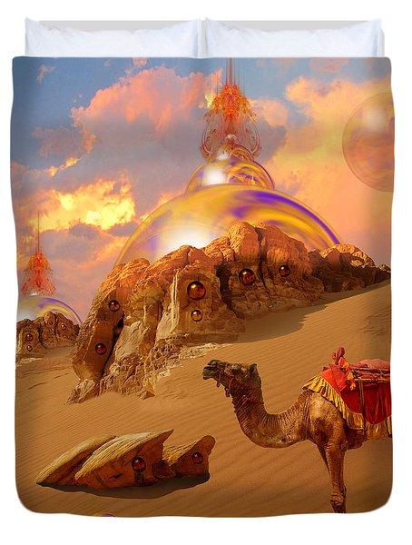 Duvet Cover featuring the digital art Mystic Desert by Alexa Szlavics