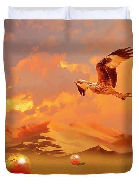 Duvet Cover featuring the digital art Mystic Desert Another Planet by Alexa Szlavics