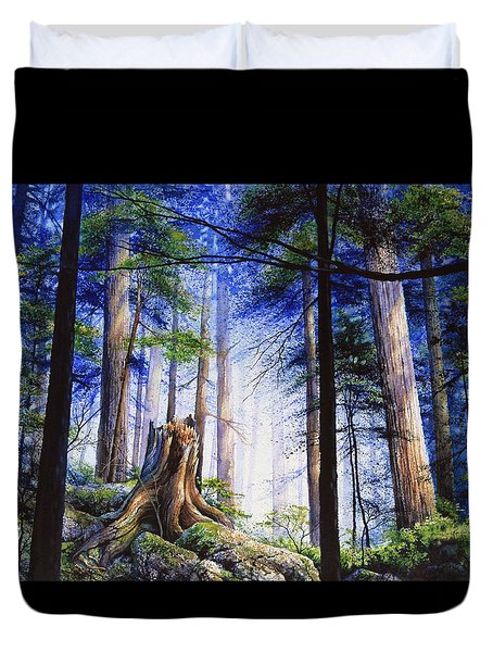 Mystic Forest Majesty Duvet Cover