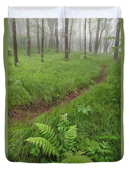 Mystic Greens Duvet Cover