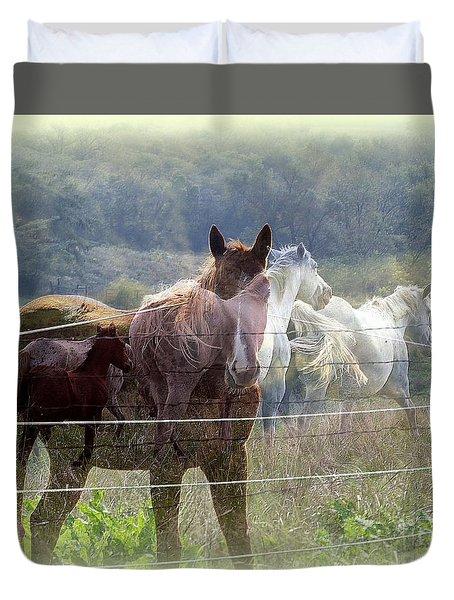Mystic Horses Duvet Cover