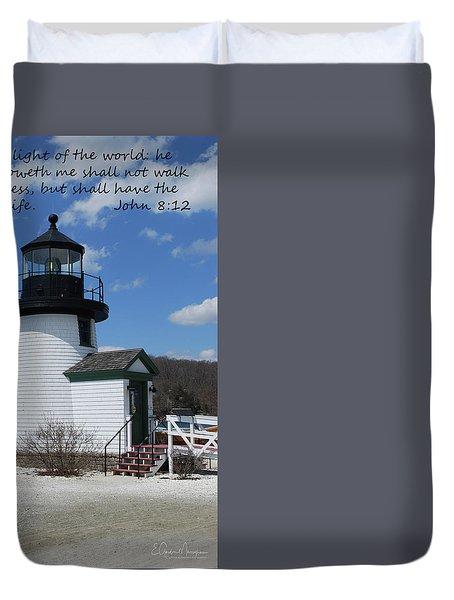 Mystic Lighthouse John 8-12 Duvet Cover