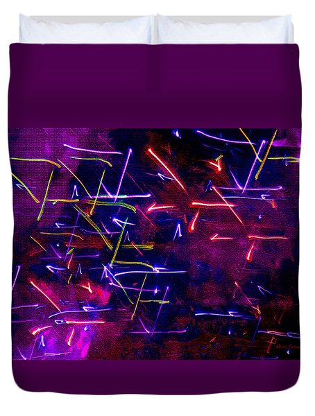 Duvet Cover featuring the digital art Mystic Lights 8 by Donna Corless