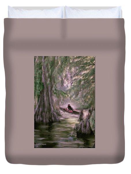 Mystic Reelfoot Lake  Duvet Cover by Bonnie Willis