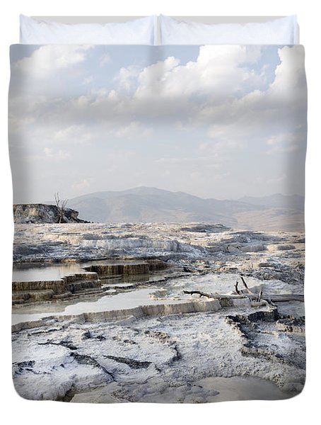Mystic Scene From The Lower Terrace In Yellowstone National Park Duvet Cover by Carol M Highsmith