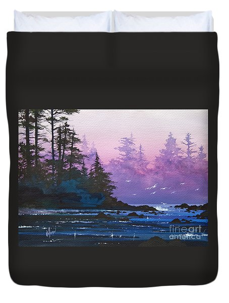 Mystic Shore Duvet Cover by James Williamson