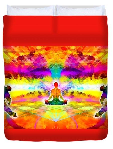 Duvet Cover featuring the digital art Mystic Universe 11 by Derek Gedney