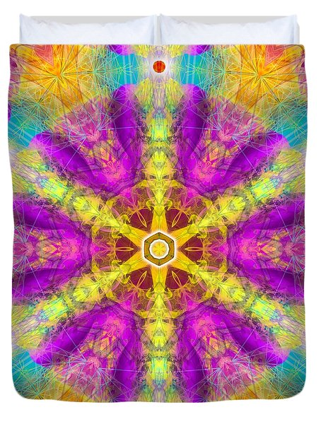 Duvet Cover featuring the digital art Mystic Universe 11 Kk2 by Derek Gedney