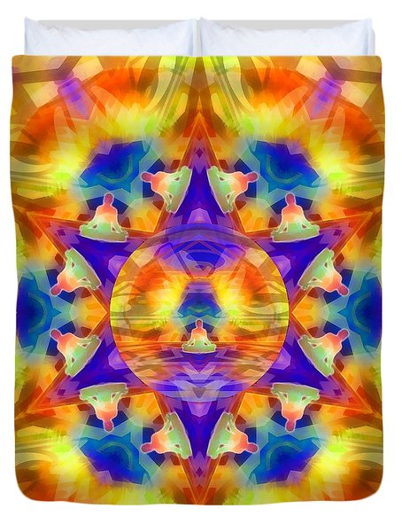 Duvet Cover featuring the digital art Mystic Universe Kk 12 by Derek Gedney