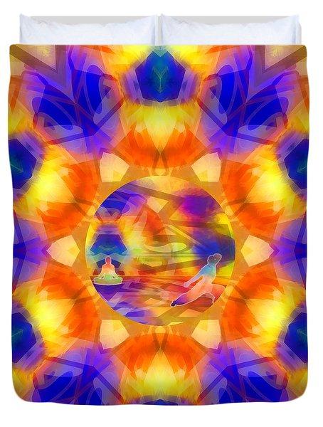 Duvet Cover featuring the digital art Mystic Universe 12 Kk2 by Derek Gedney