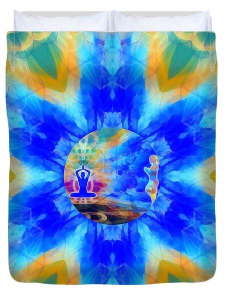 Duvet Cover featuring the digital art Mystic Universe 13 Kk2 by Derek Gedney