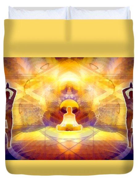 Duvet Cover featuring the digital art Mystic Universe 14 by Derek Gedney