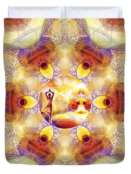 Duvet Cover featuring the digital art Mystic Universe 14 Kk2 by Derek Gedney