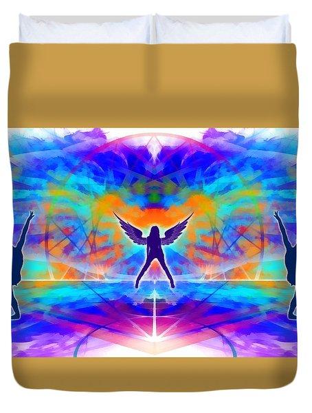 Duvet Cover featuring the digital art Mystic Universe 15 by Derek Gedney