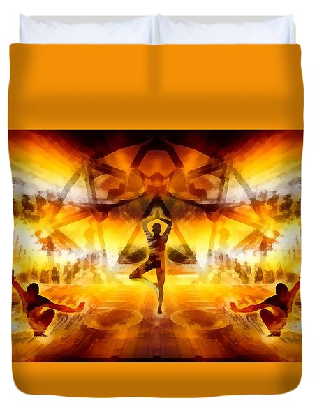 Duvet Cover featuring the digital art Mystic Universe 7 by Derek Gedney