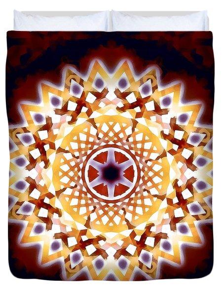 Duvet Cover featuring the digital art Mystic Universe 7 Zodiac Lattice by Derek Gedney