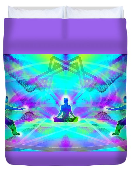 Duvet Cover featuring the digital art Mystic Universe 8 by Derek Gedney