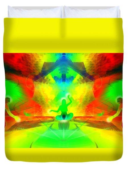 Duvet Cover featuring the digital art Mystic Universe 9 by Derek Gedney