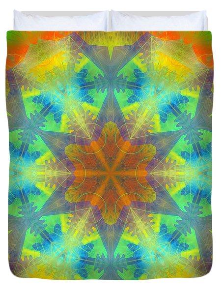 Duvet Cover featuring the digital art Mystic Universe 9 Kk2 by Derek Gedney