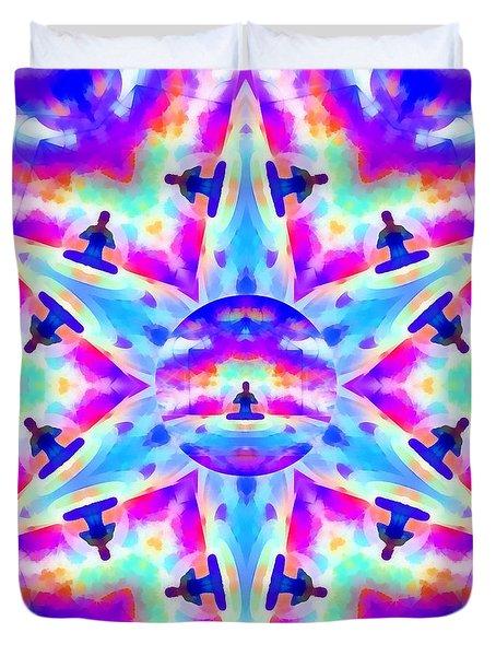 Duvet Cover featuring the digital art Mystic Universe Kk 10 by Derek Gedney