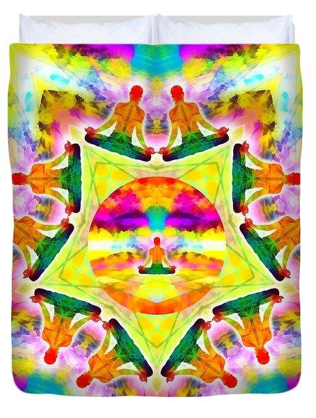 Duvet Cover featuring the digital art Mystic Universe Kk 11 by Derek Gedney