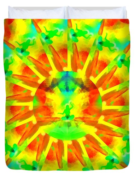 Duvet Cover featuring the digital art Mystic Universe Kk 9 by Derek Gedney