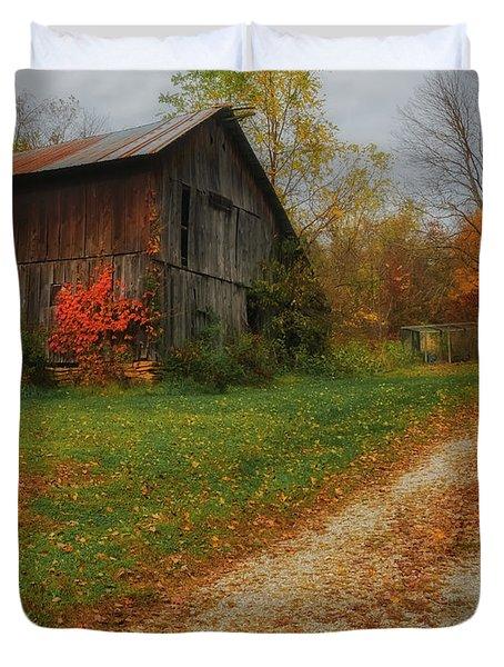 Mystical Country Lane  Duvet Cover