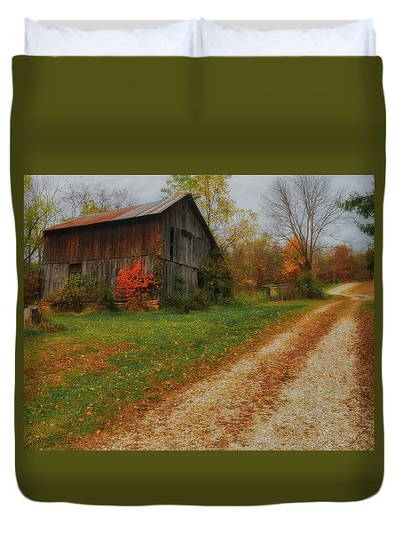Mystical Country Lane  Duvet Cover