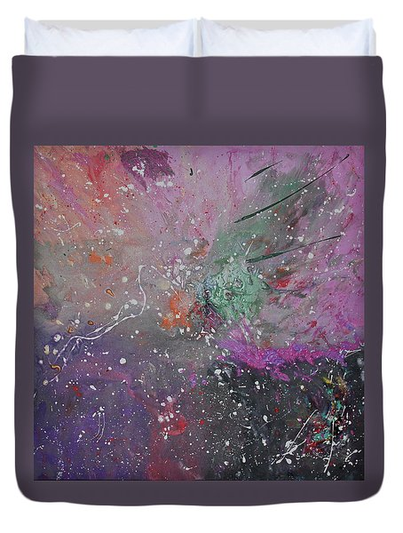 Duvet Cover featuring the painting Mystical Dance by Michael Lucarelli