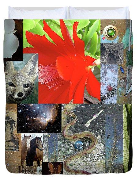 Mystical Desert Compilation Duvet Cover