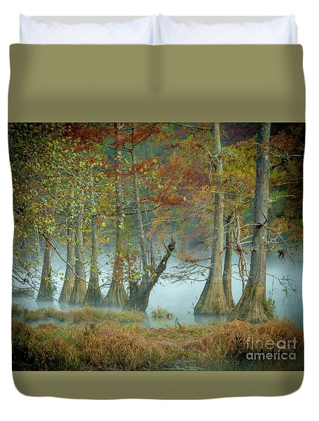 Mystical Mist Duvet Cover by Iris Greenwell