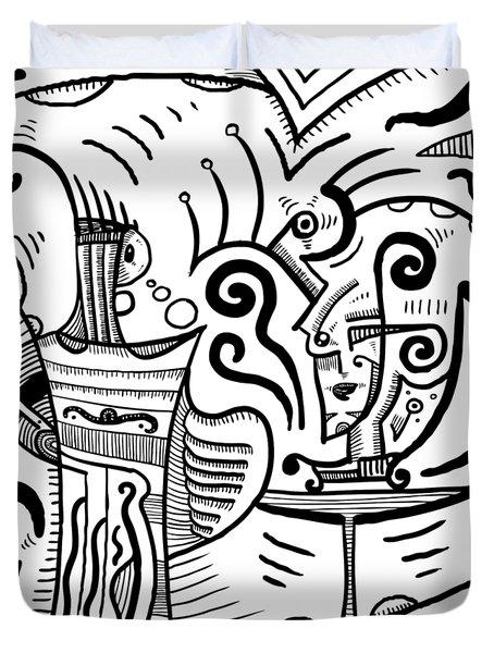 Mystical Powers - Surrealism Duvet Cover