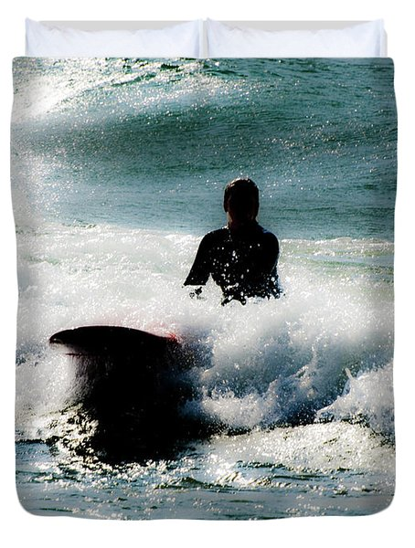 Duvet Cover featuring the photograph Mystical Surf by Tara Lynn
