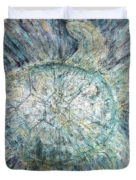 Mystical Sea Turtle Duvet Cover