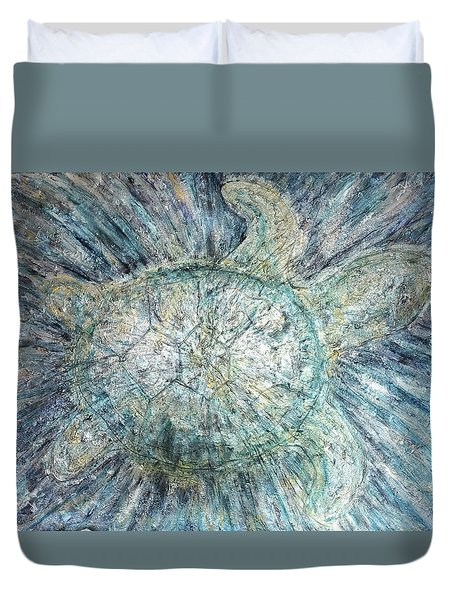 Mystical Sea Turtle Duvet Cover