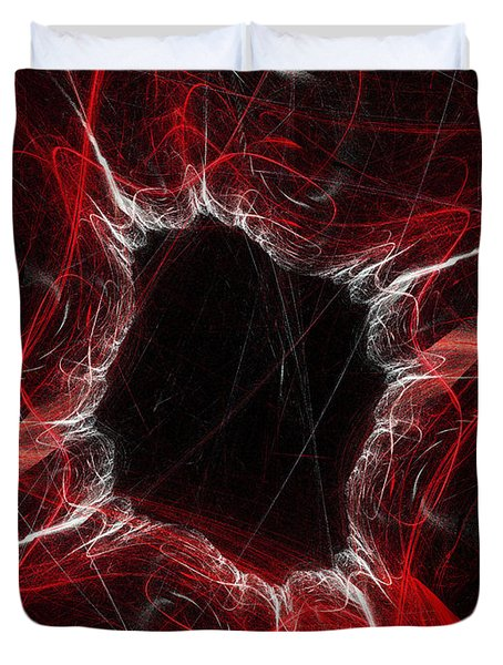 Mystry Through The Black Hole Duvet Cover by Andee Design